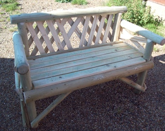 2 Seater Softwood Garden Bench