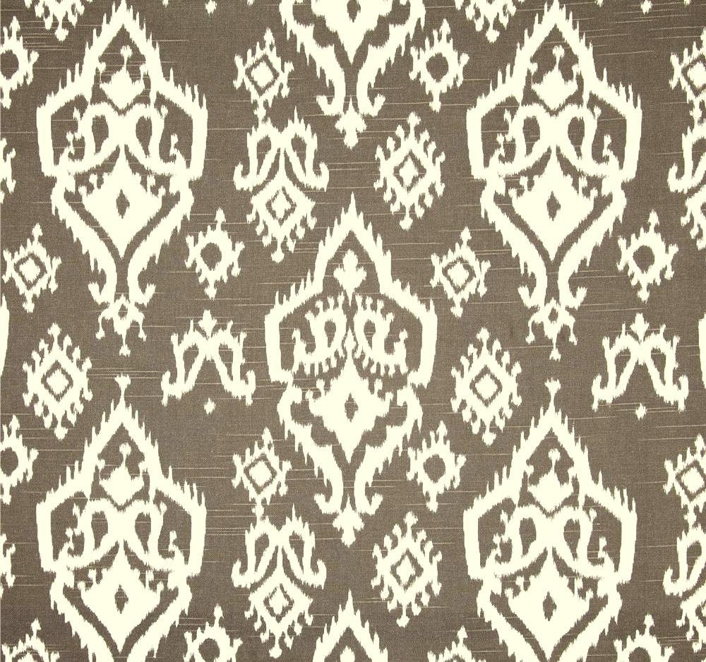 brown white ikat home decor fabric by the yard by cottoncircle
