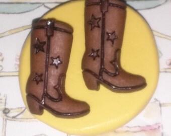 Cowboys Boots Flexible Silicone Mold~