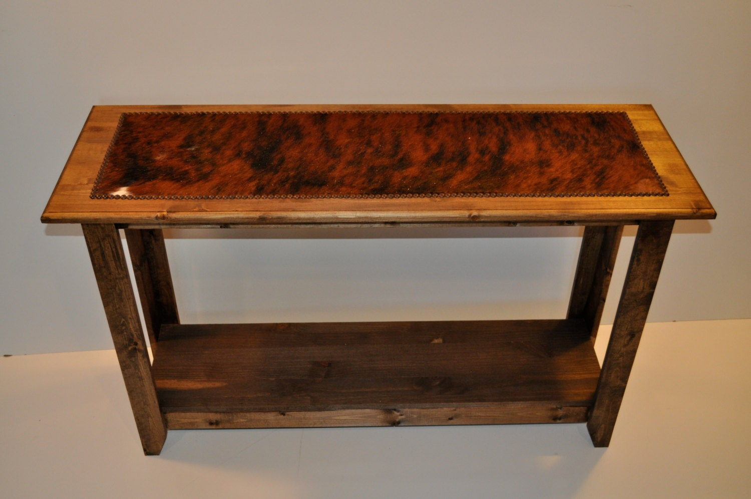 Western sofa table cowhide sofa table cowhide entryway details cowhide sofa table geotapseo Image collections