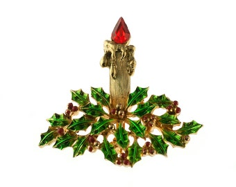 JJ Christmas Candle Brooch