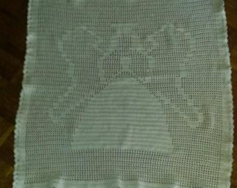 Crocheted Angel Lap Blanket
