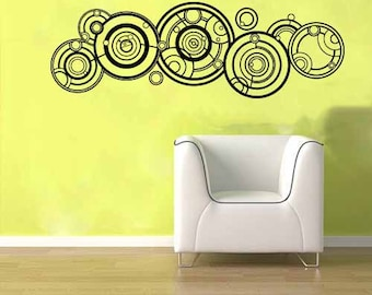 Doctor Who Gallifreyan Name Wall Vinyl Sticker Decal Mural