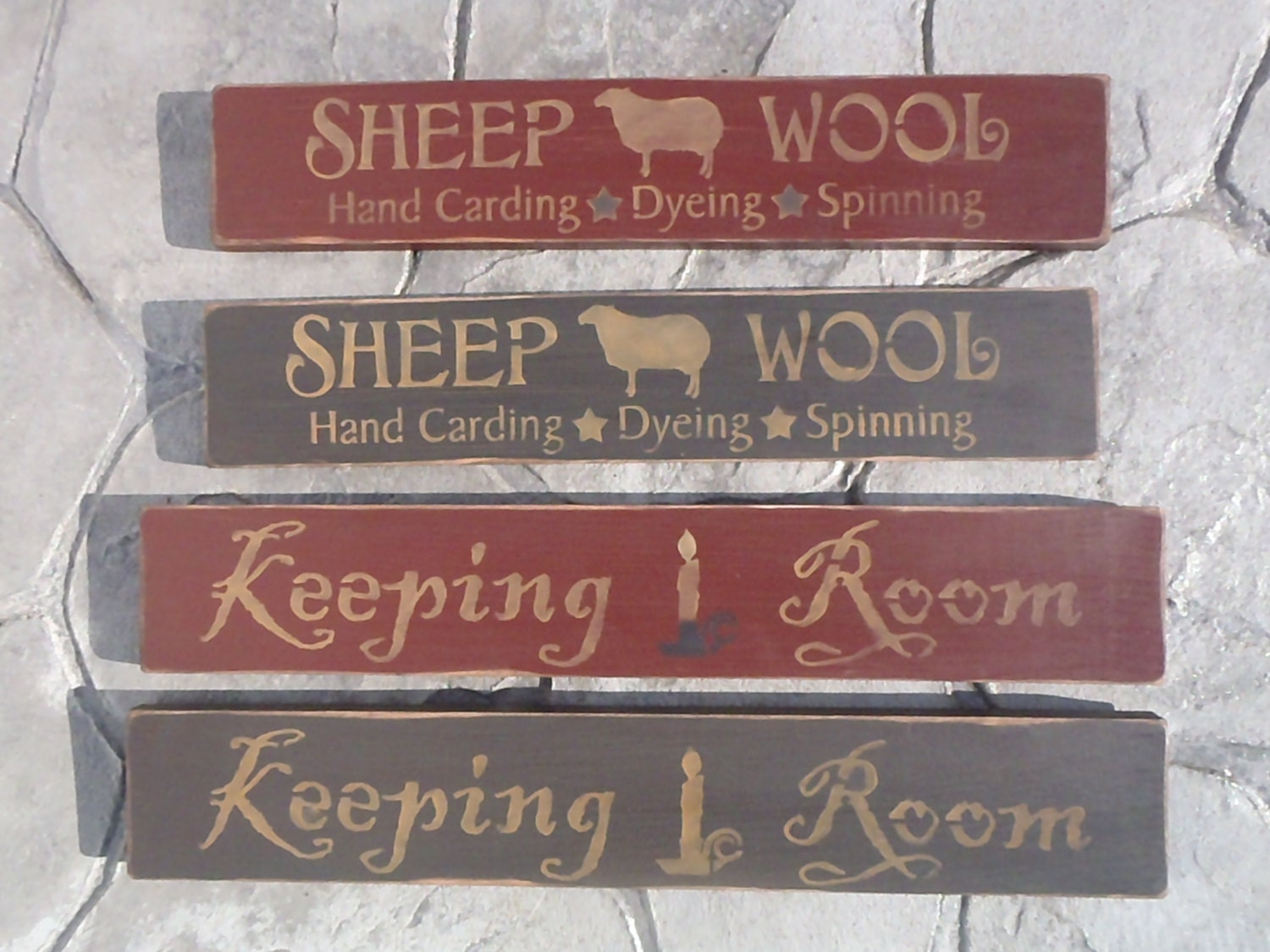 Wood and wool primitive custom woodworking