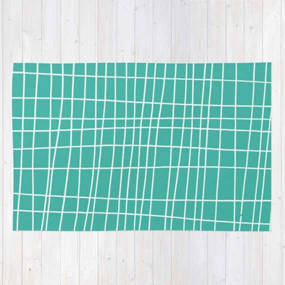 Modern nursery rug choose color turquoise blue by for Choosing a rug color