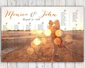 RUSH SERVICE - Photo Wedding Seating Chart Reception Poster - Digital Printable File - Customizable HBC128