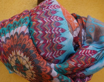 Women's Floral Print Fashion Scarf