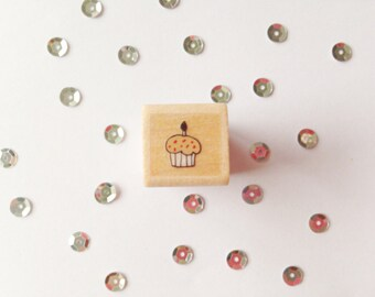 Square Stamp Cupcake (Square Stamp Cupcake), 1, 5 cm wide (wide)