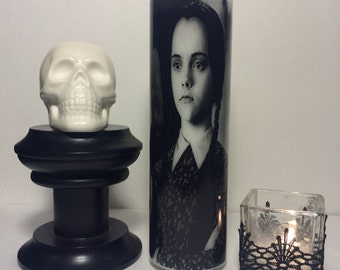 Wednesday Addams The Addams Family Horror Prayer Candle