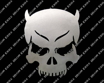 Sinner Devil Skull Metal Wall Art
