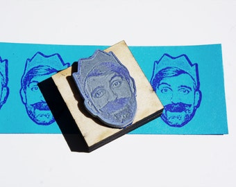 Custom Portrait Rubber Stamp. Stamplifier- personalized gift.  Face stamp. Back to school,  present for boss or teacher appreciation