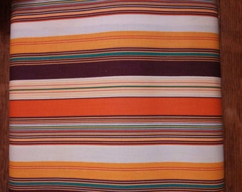 Vintage Multi-Striped Polyester Fabric.