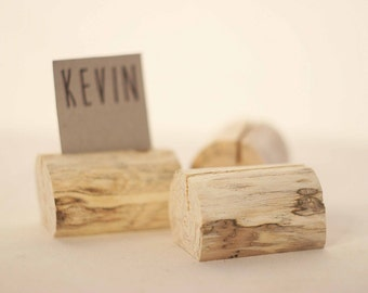50 pieces rustic place card holders, Wedding card holders, name card holders, rustic naturally aged tree holder, wedding table number holder