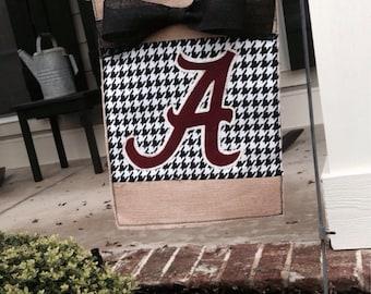 Alabama Burlap Garden Flag