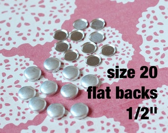 100 Flat Back Cover Buttons Size 20 Fabric Covered Buttons FLATBACK // ships from USA
