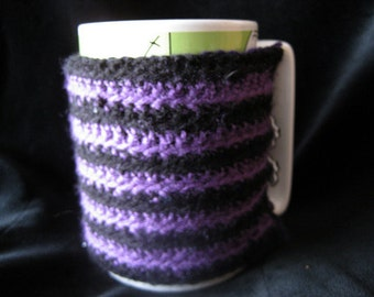 Purple Stripy Mug Cosy
