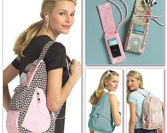 Young Adult Backpacks and MP3 Player Covers Butterick Patterns B5054