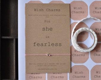 Women Bracelet, Women Message Bracelet, Fearless Bracelet, Gift For Her, Jewelry, Message Wish Bracelet,