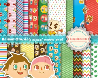 Animal Crossing Digital Papers Cliparts Nintendo New