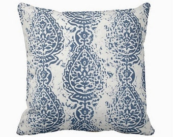 6 Sizes Available: Navy Blue Decorative Throw Pillow Cover Blue Pillow Accent Pillow 12x16 18x18 20x20 22x22 24x24 Inches
