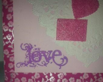 SALE! Pink Valentine's day card
