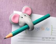 funny fridge magnet, elephant fridge magnet, elephant magnet, polymer clay magnet, fimo fridge magnet