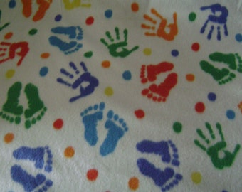 Children's Hands & Feet Fleece Blanket