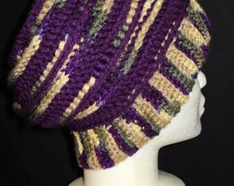 Crocheted Slightly Slouchy Hat