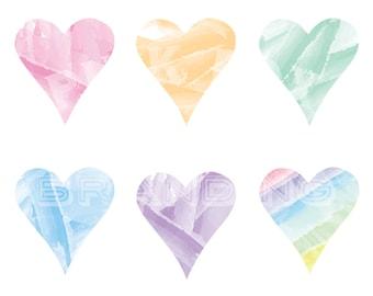 Popular items for rainbow hearts on Etsy