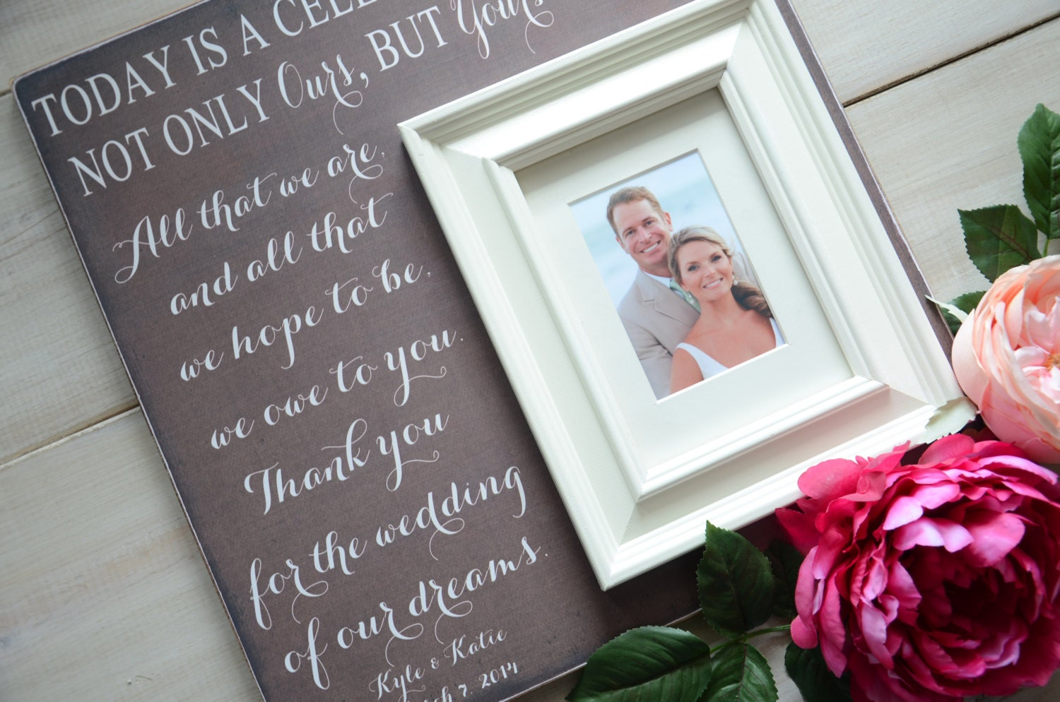 Mother Of The Bride Gift Parents Thank You Gift By