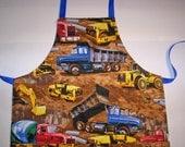 Children's apron, Big Trucks
