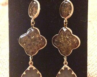 Brown Glitter Earrings