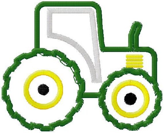Items similar to tractor applique embroidery design on etsy