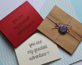 You Are My Greatest Adventure Notecard - Disney Pixar UP - Perfect For The Greatest Adventure Of Your Life!