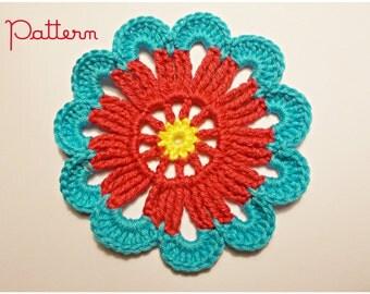 Granny Rosette Crochet Pattern