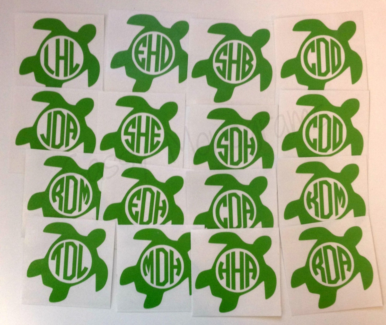 Download Sea Turtle Personalized Monogram Vinyl Decal