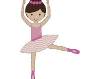 Adorable Dancer Ballerina Machine Embroidery Design - 3 Sizes - 4x4, 5x7, 6x10