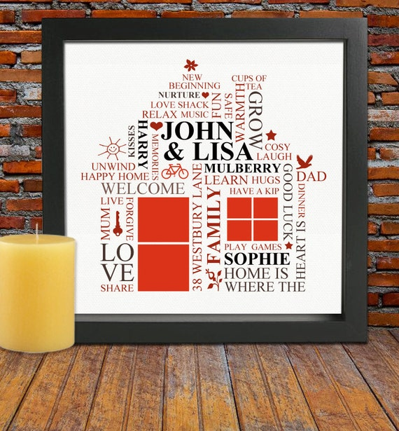 Personalized Housewarming Gift House Warming Gift New Home