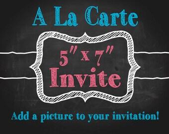A La Carte - Add a Photo to Invitations