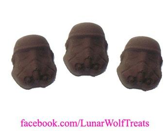 3 Solid Chocolate Stormtrooper Helmets