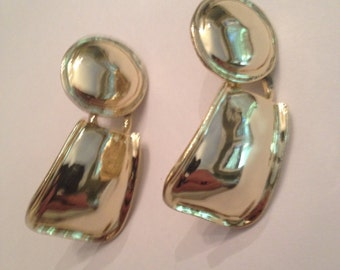 Vintage 1980s Gold Earrings Costume Jewelry