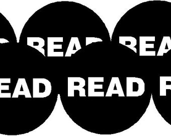 """Pack of 10 Black & White Read - Geek Nerd Reading Books Library Gift Set Party Favors 1.25"""" Pinback Buttons Badges Pins OR Magnets (at4)"""