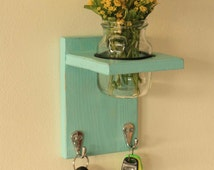 Lovely key hanger with flower jar, perfect for the entrance of your home or working place