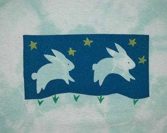 Bunny 100% cotton youth short sleeved silk screened tee shirt