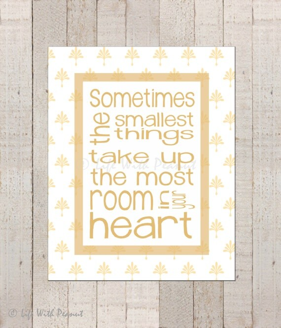 Winnie The Pooh Quotes Sometimes The Smallest Things: Sometimes The Smallest Things Wall Art Nursery By