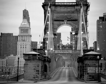 Crossing the Roebling Bridge in Cincinnati, Ohio