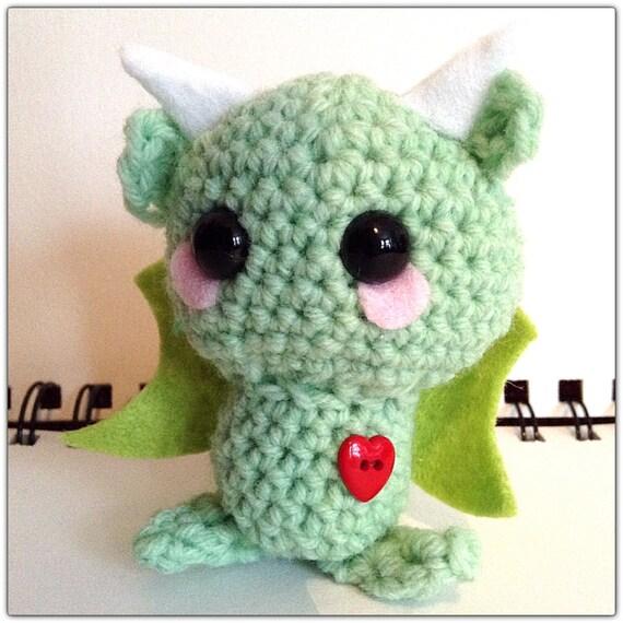 Crochet amigurumi Kawaii Dragon by MyLittleBeastys on Etsy
