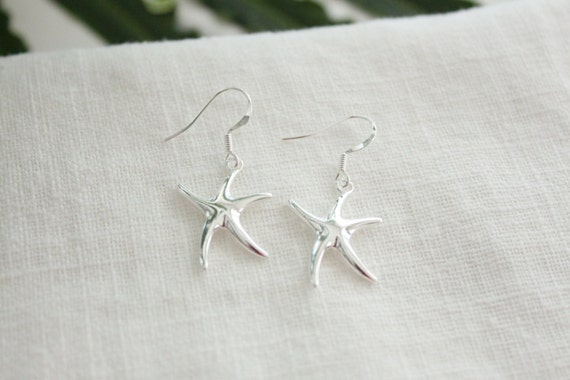 Starfish Earrings- Sterling Silver, 2 Styles