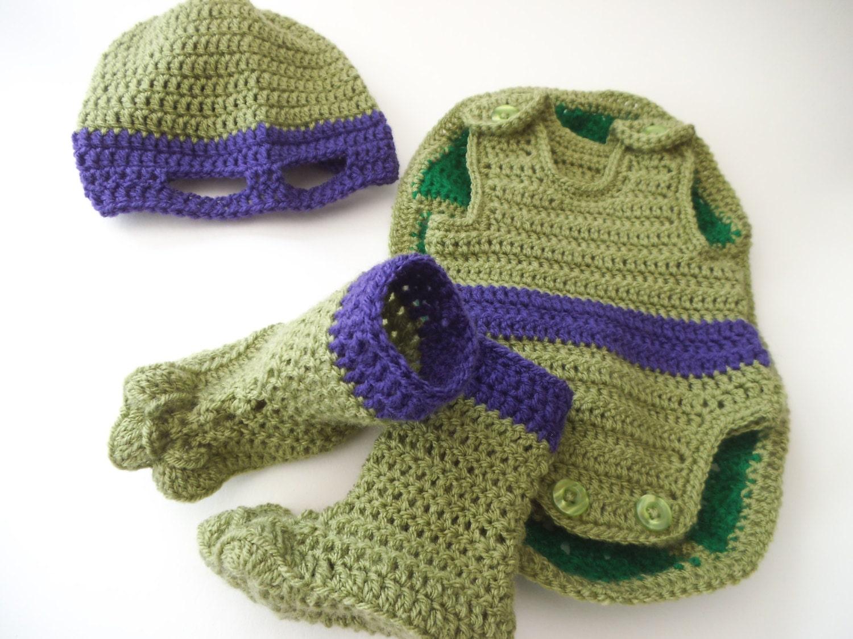 Pattern to Crochet Baby a Teenage Mutant Ninja by TeaCosyFolk