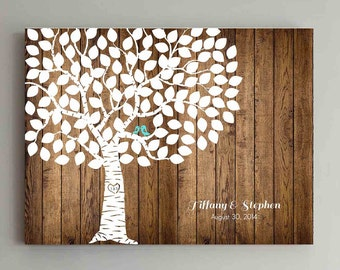 100 Guest Wedding Guest Book Wood Wedding Tree Wedding Guestbook Alternative Guestbook Poster Wedding Guestbook Poster - Wood 2
